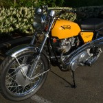 Norton Commando S-Type - 1969 - Front Forks, Front Wheel, Petrol Tank, Norton Decal and Headlight.