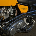 Norton Commando S-Type - 1969 - Engine, Cylinders, Carburettors, Chain Case, and Side Panel.