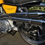 Norton Commando S-Type - 1969 - Exhaust Heat Shield, Rear Brake and Hub.