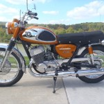 Suzuki Cobra - 1968 - Left Side View, Two Stroke 500cc Engine, Gearbox and Frame.