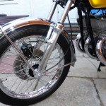 Suzuki GT380 - 1974 - Front Wheel, Front Fender and Forks.