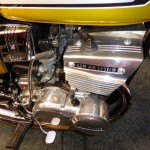 Suzuki GT380 - 1974 - Engine and Transmission, Brake Pedal, Kick Start, Carburettor and Clutch Cover.