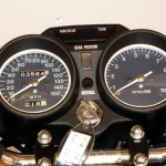Suzuki GT380 - 1974 - Speedo and Tacho, Ignition Switch, Clock Surround and Gear Position.