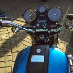Suzuki GT750B - 1977 - Fuel Tank, Tank Flap, Handlebars and Clocks.