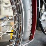 Triumph Bonneville T120R - 1970 - Original Chrome Wheel Rim.