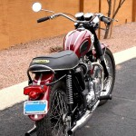 Triumph Bonneville T120R - 1970 - Rear Wheel, Rear Fender and Swing Arm