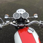 Triumph Daytona - 1973 - Fuel Tank, Gas Tank, Handlebars, Clocks and Flashers.