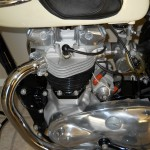 Triumph Tiger T110 - 1958 - Engine, Header Pipe, Cylinder Head, Carburettor and Plug.