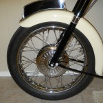Triumph Tiger T110 - 1958 - Front Wheel, Hub, Front Fender and Number Plate.