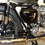 Triumph Tiger T110 - 1958 - Frame, Rear Shock Absorber, Rear Footrest, Muffler and Gearbox.