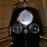 Triumph Tiger T110 - 1958 - Headlight, Clocks, Speedo and Light Rim.