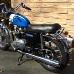 Triumph Tiger - 1973 - Grab Rail, Seat, Muffler and Wheel.