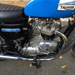Triumph Tiger - 1973 - Motor and Transmission, Exhaust Pipes, Cylinder Head and Kick Start.