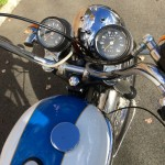 Triumph Tiger - 1973 - Handlebars, Clocks, Tacho Speedo and Headlight.