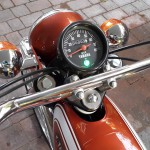 Yamaha FS1E - 1974 - Clock, Speedo, Handlebars and Gas Tank.
