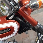 Yamaha FS1E - 1974 - Yamaha Badge, Baja Brown, Steering Head and Bearings.