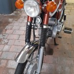 Yamaha FS1E - 1974 - Front Forks, Front Mudguard, Front Wheel and Headlight.