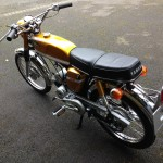 Yamaha SS50 - 1973 - Tank, Seat and Rear Mudguard.