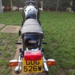 Yamaha XS1100 - 1980 - Number Plate, Rear Light, Silencers and Seat.