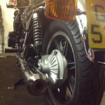 Yamaha XS1100 - 1980 - Rear Wheel, Indicator and Mudguard.