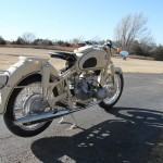 BMW R50 - 1959 - Rear Fender, Muffler, Rear Wheel and Spokes.
