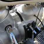 BMW R50 - 1959 - Motor ad Transmission, Inlet Pipe, Air Filter housing, Push Rod Tubes and Fuel Line.