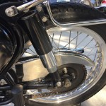 BSA A10 Super Rocket - 1963 - Rear Shock Absorber, Chain Guard, Swing Arm and Footrest.