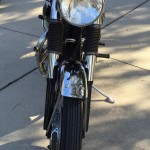 BSA A10 Super Rocket - 1963 - Front Forks, Fender and Headlight.