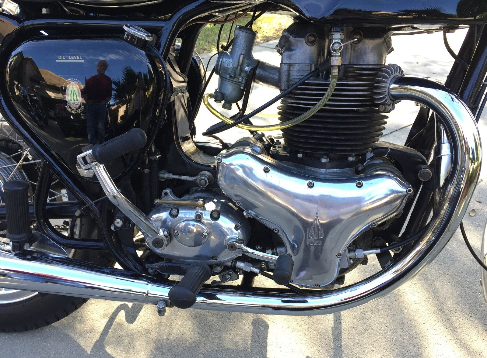 BSA A10 Super Rocket - 1963 - Motor and Transmission, Timing Cover and Kick Start.