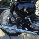 BSA A10 Super Rocket - 1963 - Kick Start, Muffler, Oil Tank, Rear Wheel and Fender.