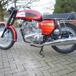 BSA Rocket 3 - 1969 - Exhaust System, Engine and Gearbox, Stand and Horn.