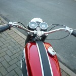 BSA Rocket 3 - 1969 - Fuel Tank, Clocks, Speedo and Tacho, Handlebars, Switches and Grips.