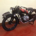 Coventry-Eagle - 1934 - Front Number Plate, Front Wheel and Forks.