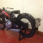 Coventry-Eagle - 1934 - Rear Number Plate, Rear Fender, Chain and Sprocket.