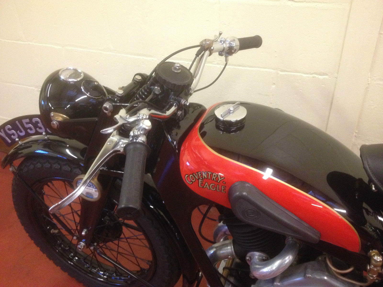 Coventry-Eagle - 1934 - Levers, Handlebars and Grips.