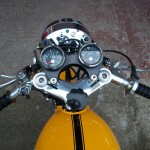 Ducati Desmo 250 - 1974 - Clocks, Tacho and Speedo, Clip Ons, Steering Damper and Cables.