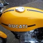 Ducati Desmo 250 - 1974 - Ducati Decal, Gas Tank, Gas Cap and Stripes.