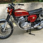 Honda CB750K0 -1969 - Engine and Gearbox, Mufflers, Footrests, Petrol Tank, Wheels and Tyres.
