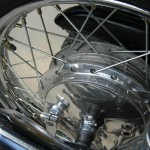 Honda CB750K0 -1969 - Rear Wheel, Rear hub, Spokes, Spacer and Valve,