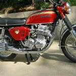 Honda CB750K0 -1969 - Fuel Tank, Side Panel, Fork Ears, Reflector and Kick Start.