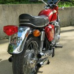 Honda CB750K0 -1969 - Rear Fender, Mufflers, Rear Light, Seat and Shocks.