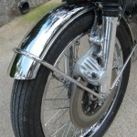 Honda CB750K0 -1969 - Front Wheel, Double Cut Front Fender, Disc Brake and Calliper.