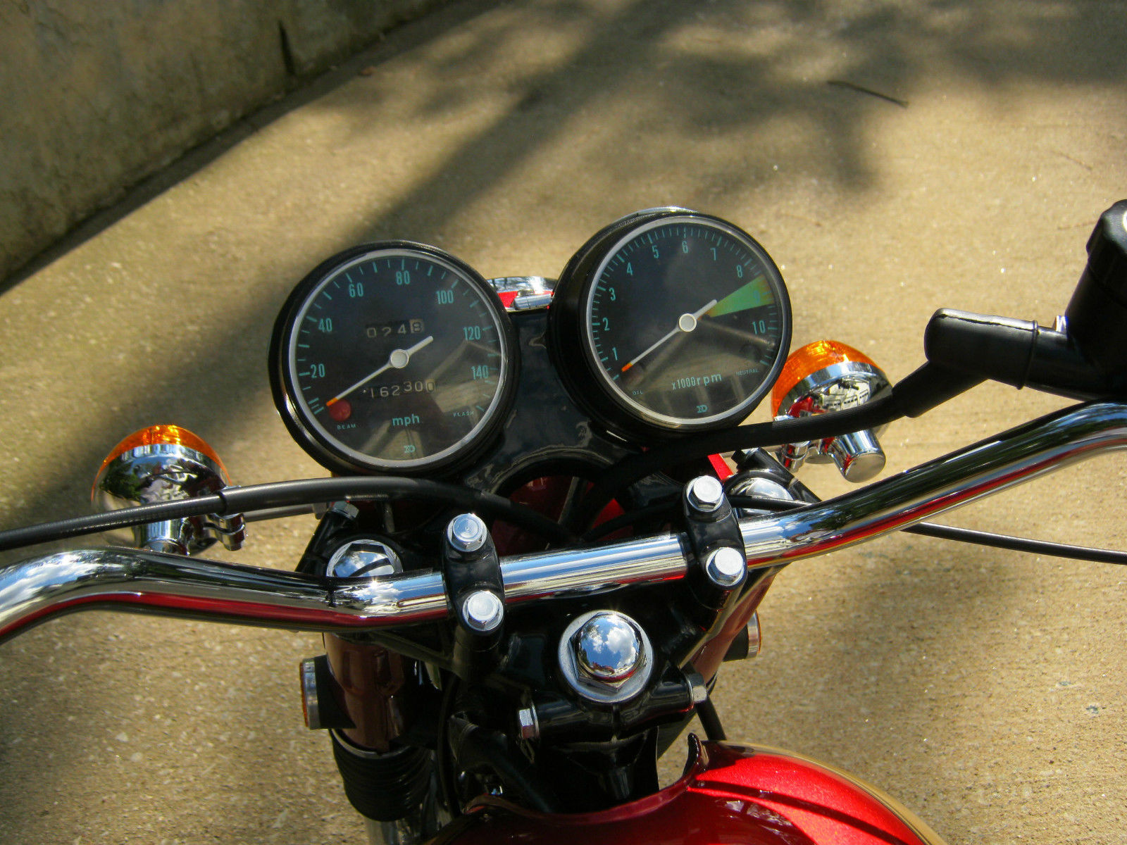 Honda CB750K0 -1969 - Clocks, Speedo and Tacho, Handlebars and Flashers.
