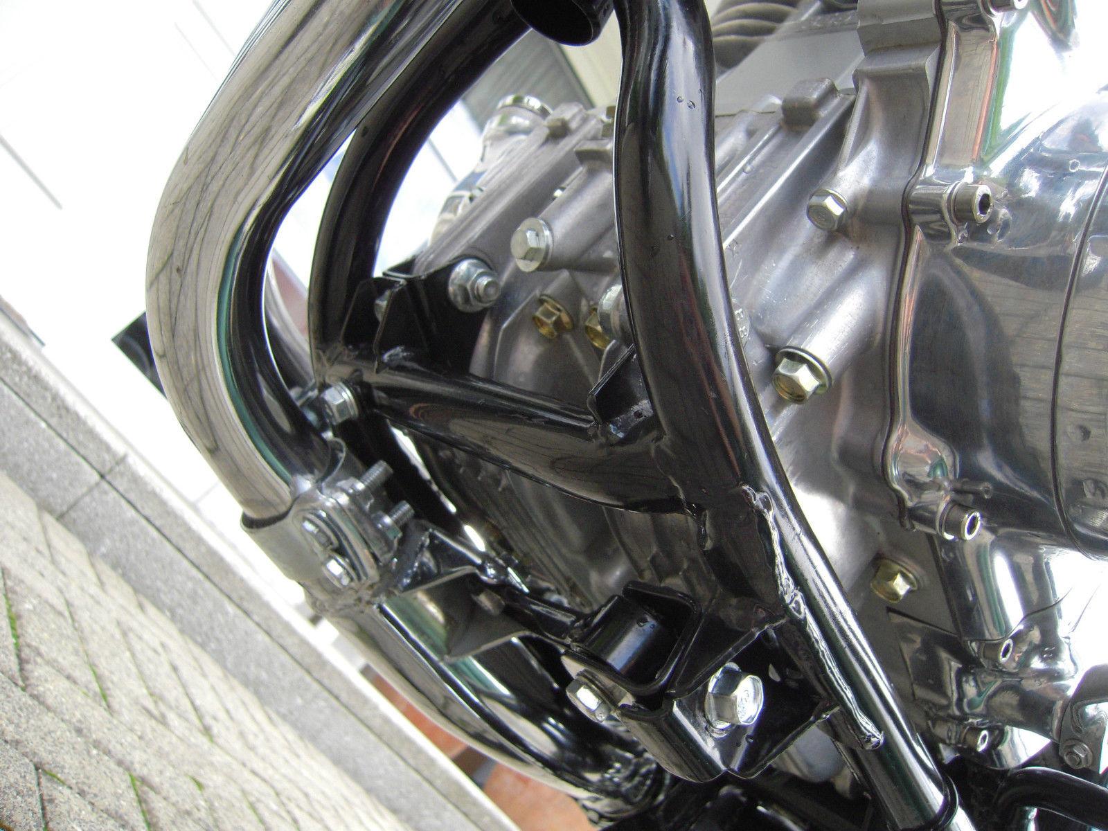 Honda CB360 - 1979 - Underside, Engine Cases and Powder-Coated Frame.