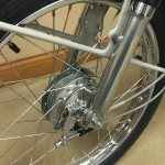Honda S90 -1966 - Front Wheel, Front Hub, Brake and Cable.