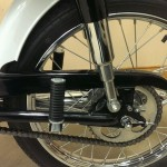 Honda S90 -1966 - Rear Wheel, Rear Shock Absorbers, Swinging Arm, Chain and Sprocket.