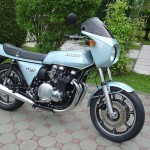 Kawasaki Z1R - 1978 - Motor and Transmission, Wheels, Petrol Tank, Kawasaki Badge, Polished Engine Cases and Black Engine.