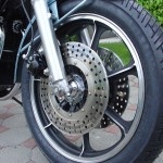 Kawasaki Z1R - 1978 - Front Wheel, Drilled Disc, Front wheel and Tyre.