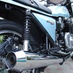 Kawasaki Z1R - 1978 - Koni Shock Absorber, Muffler, Rear Brake and Side Panel.