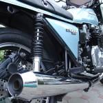 Kawasaki Z1R - 1978 - Koni Shock Absorber, Muffler, Rear Brake and Side Panel.